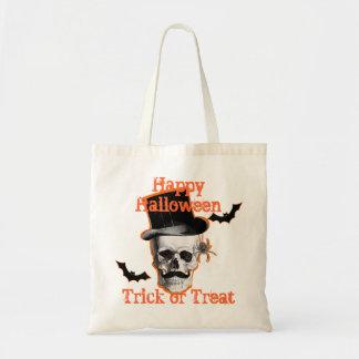 truco o invitación adaptable Halloween del cráneo  Bolsas De Mano