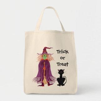 Truco o invitación - bolso de la bruja y de gato n bolsa