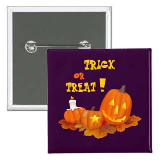 ¡Truco o invitación! Botón del regalo de Halloween