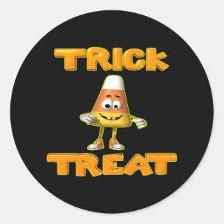 Truco-o-Invitación-Caramelo-Maíz Pegatinas