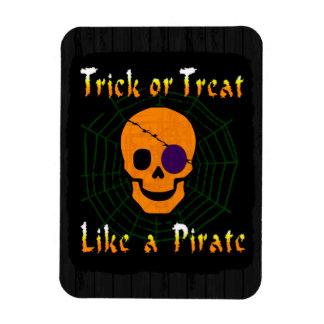 Truco o invitación como un pirata iman rectangular