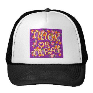 Truco o invitación con el caramelo de Halloween Gorras