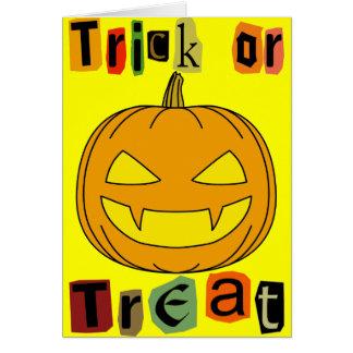 Truco o invitación de Halloween Felicitaciones