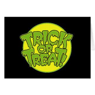 Truco o invitación de Halloween Tarjeta De Felicitación