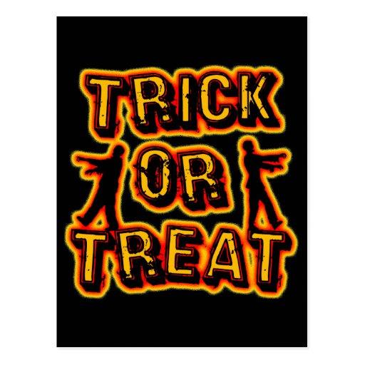Truco o invitación de Halloween Tarjeta Postal