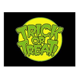 Truco o invitación de Halloween Tarjetas Postales