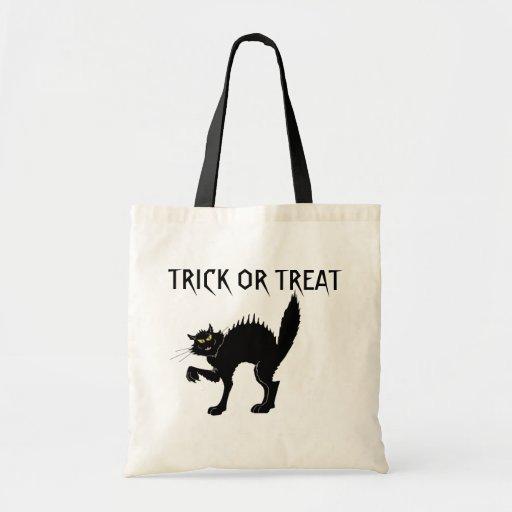 Truco o invitación del gato negro bolsa