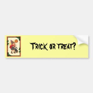 Truco o invitación en Halloween Pegatina Para Auto