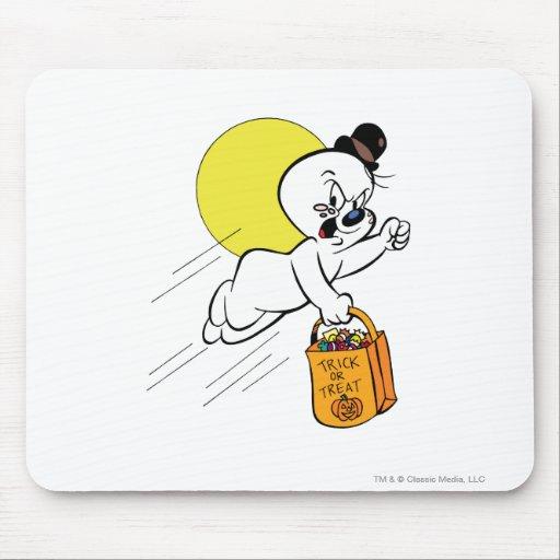 Truco o invitación fantasmagórico 2 alfombrillas de raton