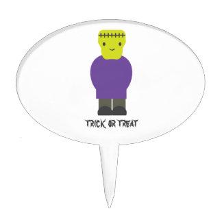 Truco o invitación Frankenstein lindo Palillos De Tarta