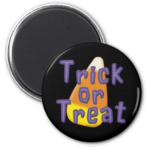 Truco o invitación Halloween de las pastillas de c Imán De Frigorífico