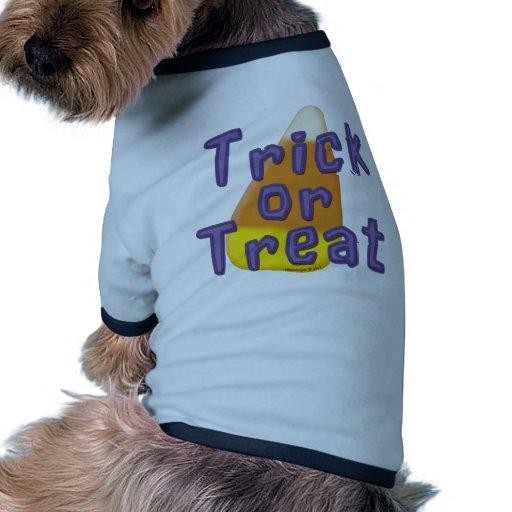 Truco o invitación Halloween de las pastillas de c Camisetas Mascota