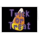 Truco o invitación Halloween de las pastillas de c Tarjeton