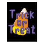 Truco o invitación Halloween de las pastillas de c Tarjeta Postal