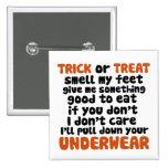Truco o invitación Halloween divertido Pins