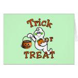 Truco o invitación Halloween Tarjeta