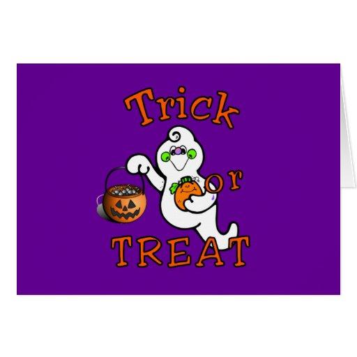 Truco o invitación Halloween Tarjeta Pequeña