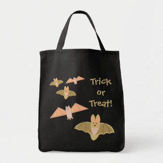 ¡Truco o invitación loco de Halloween de los Bolsa Tela Para La Compra