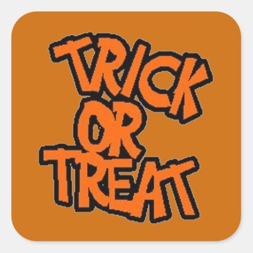 Truco-o-Invitación - pegatina de Halloween