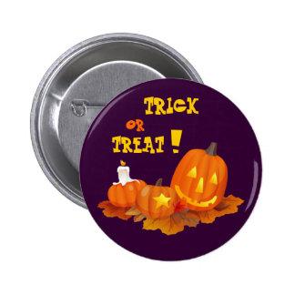 ¡Truco o invitación! Regalo de Halloween Pin Redondo 5 Cm