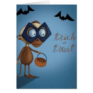 Truco o invitación - tarjeta de Halloween