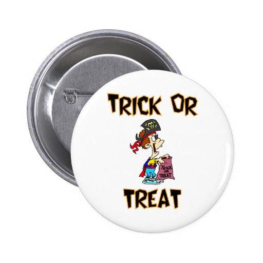 Truco o invitación (traje del pirata) pins