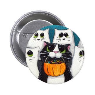 Truco o invitación (V.2) - botón del gato de Hallo Pin