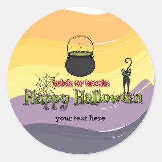 Truco o invitaciones * feliz Halloween Pegatina Redonda