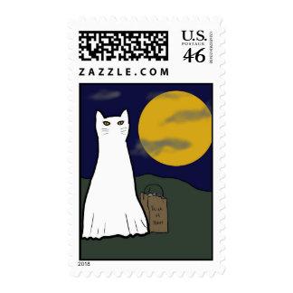 Truco o sello fantasmagórico del gatito de la invi