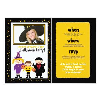 """Truco-o-Treaters el fiesta de Halloween invita (la Invitación 5"""" X 7"""""""