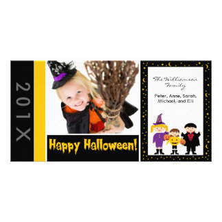 Truco-o-Treaters familia Halloween Photocard Tarjetas Fotograficas