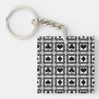 Trucos de cartas 8 llavero cuadrado acrílico a doble cara