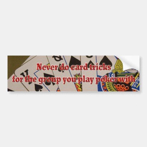 trucos de cartas etiqueta de parachoque