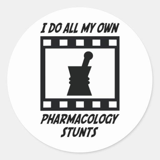 Trucos de la farmacología pegatina redonda
