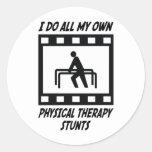Trucos de la terapia física etiquetas redondas