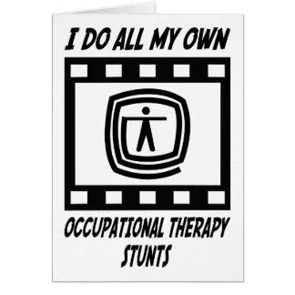 Trucos de la terapia profesional tarjeta de felicitación
