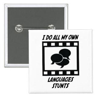 Trucos de las idiomas pin cuadrada 5 cm