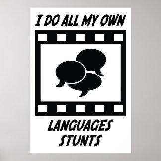 Trucos de las idiomas póster