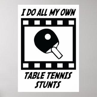Trucos de los tenis de mesa póster