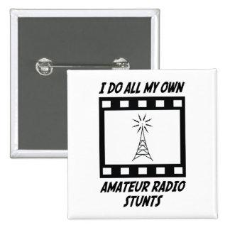 Trucos de radio aficionados pin cuadrado