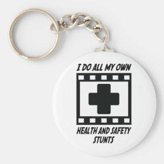 Trucos de salud y de la seguridad llavero redondo tipo pin