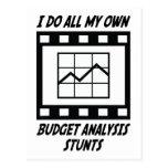 Trucos del análisis del presupuesto tarjetas postales