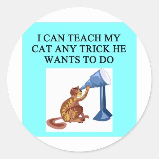 Trucos del CAT Pegatina Redonda