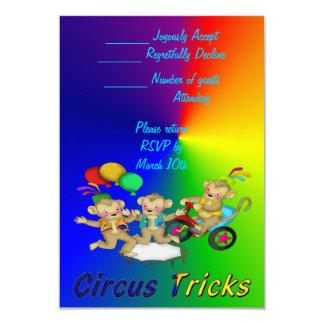 """Trucos del circo invitación 3.5"""" x 5"""""""