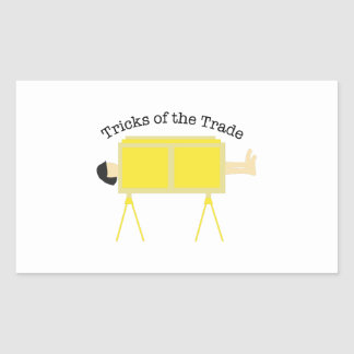 Trucos del comercio pegatina rectangular