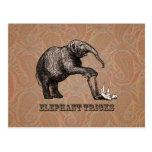 Trucos del elefante - Pachyderm divertido del circ Postales