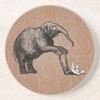 Trucos del elefante - Pachyderm divertido del Posavasos Para Bebidas