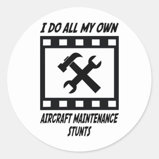 Trucos del mantenimiento de aviones pegatina redonda