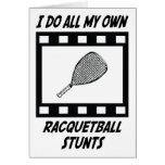 Trucos del Racquetball Tarjeta De Felicitación