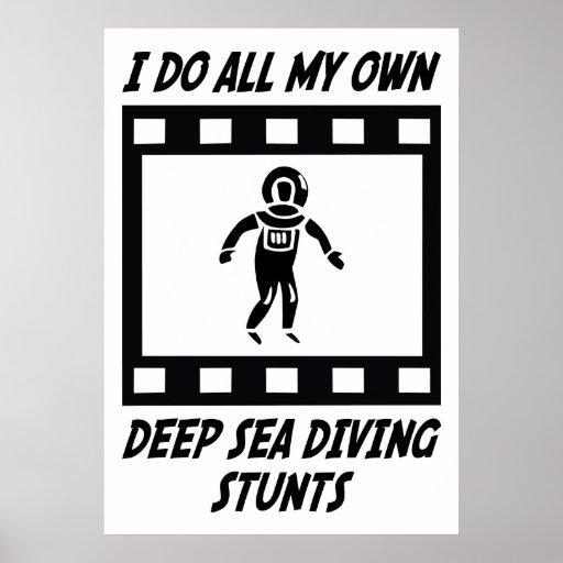 Trucos del salto del mar profundo poster